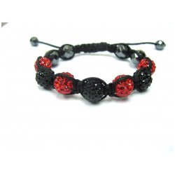 Pink Crystal Ball Shamballa Bracelets Adult