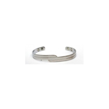 Abstract Design Silver Finished Copper Bangle