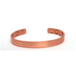 Banded Design Copper Finished Copper Bangle