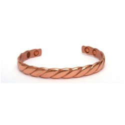 Weave Design Copper Finished Copper Bangle