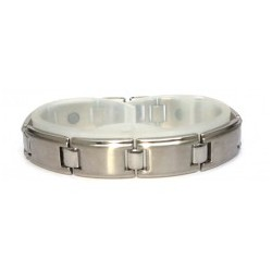 Traditional H Link Matt Silver Stainless Steel Bracelet