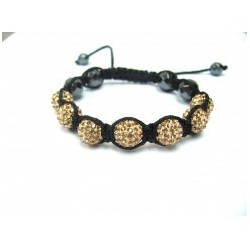Champagne Peach Crystal Ball Shamballa Bracelets Adult